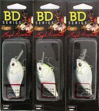 (3) CASTAIC BOYD DUCKETT BD SERIES CRANKBAITS BDC1.5 Gun Metal Shad 1/2 Oz