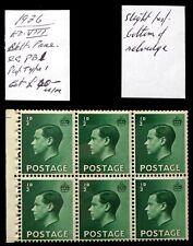 GB 1936 Ed.VIII - ½d Booklet Pane U/M As Described DC426
