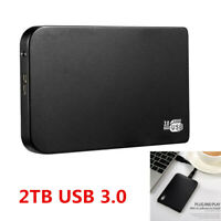 "2TB Portable 2.5"" External Hard Drives Disk USB 3.0 For PC XP/WIN7/WIN8/WIN10"