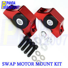 TORQUE ENGINE MOTOR MOUNT KIT HONDA CIVIC INTEGRA EG EK B16 B18 B20 D16 D15 RED