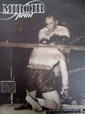 BOXE NEW-YORK AU MADISON SQUARE GARDEN CERDAN ABRAMS N° 29 MIROIR SPRINT 1946