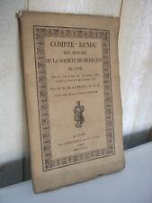 La Prade : Compte-rendu des travaux de la société de médecine de Lyon 1821