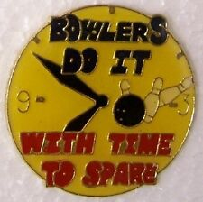 Hat Lapel Pin sports Bowlers Do It with Time to Spare NEW