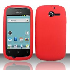 For Huawei Ascend Y H866C Rubber SILICONE Soft Gel Skin Case Cover Red