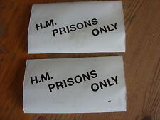3 New Tobacco Pouch HM Prisons Only White Plastic Black Print Three Pouches