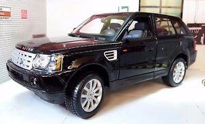 Model 1:18 Land Range Rover Sport TDV6 LR3 Black Detailed Diecast Maisto Burago