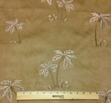 "P KAUFMANN ISLE OF PALM SUEDE JACQUARD FURNITURE CUSHION FABRIC BY THE YARD 54""W"