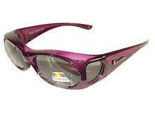 Figuretta Sonnen-Überbrille lila UV400 Polarisiert für Brillenträger Polbrille