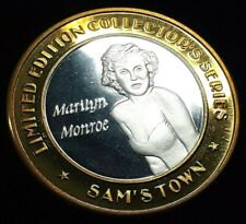 SAM'S TOWN COLLECTOR'S SERIES ROBINSONVILLE .999 SILVER STRIKE - MARILYN MONROE