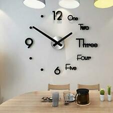Digital 3D Wall Clock Acrylic Wall Sticker DIY Home Room Clocks Wall Decor US