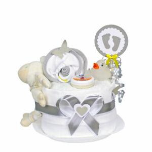 MomsStory - mini Windeltorte neutral 1.318   Baby-Geschenk Geburt Babyparty