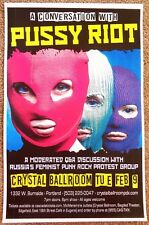 PUSSY RIOT 2016 Gig POSTER Portland Oregon Moderated Q&A Discussion