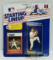 ROGER CLEMENS - Boston Red Sox Starting Lineup SLU MLB 1988 Action Figure & Card