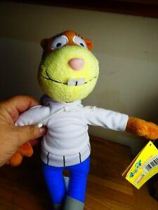 """2011 Viacom Nickelodeon SANDY CHEEKS Plush Toy Doll 13"""", BNWT, NEW."""