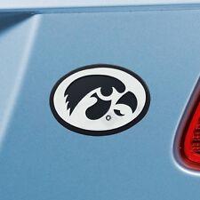 Iowa Hawkeyes 3-D Chrome Metal Auto Emblem