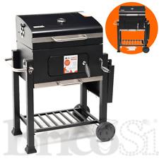 Barbecue BBQ Grill con Griglia Inox 58x42cm Regolabile a Carbone Carbonella