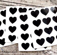 Black heart decal stickers, Vinyl hearts, Valentine heart