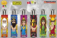 Accendino Clipper in gomma originale Collezione Greek Gods 6 Accendini ★