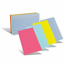 Emraw Ruled Lined Colored Index Note Cards Heavy Weight Durable 3 X 5 Inch Pl