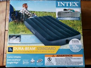 Intex Twin Dura-Beam Standard Airbed 10-Inch Twin Camping Mattress