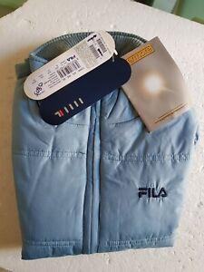 0803 NEUF- FILA - Blouson doudoune sans manche taille 12 ans  couleur bleu ciel