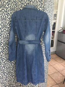 Bisou Michelle Bohbot long denim women's dress, long sleeves, size XS