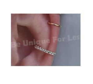 Slide On Crystals Cuff Ring Conch Ear Cuff Wrap No piercing- Hoop Earring Fake