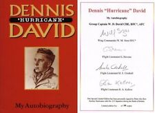 Dennis David autobiography 1st ed book signed by 4 RAF Battle of Britain pilots