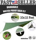 Hammock Rain Fly 10x12ft Oxford Waterproof Tarp Shelter Rain Tarp (Dark Green)