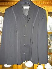 Ladies Gelco Fitted Black Blazer/jacket Machine Washable Size 46 UK 20 100616