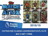Topps Match Attax Ultime 2018/19 Capitaine/ One-Club/ Légendes/ Croquis/ Pl
