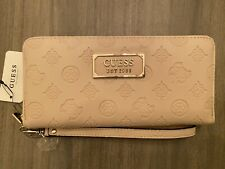 Guess Wallet Clutch Gold Faux Leather