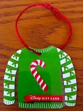 Disney Parks Candy Cane Christmas Sweater Gift Card Christmas Ornament