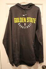 Nike Men's 17-18 NBA Golden State Warriors Therma-FIT Practice Hoodie GREY XL-T
