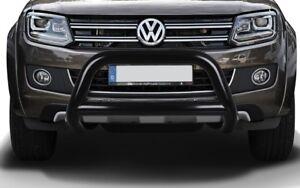 Frontbügel Personenschutzbügel 89mm VW Amarok schwarz matt Rammbügel