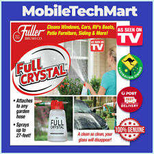 FULL CRYSTAL Window Glass Screen Cleaner❖AS SEEN ON TV❖Attach Any Garden Hose❖Oz