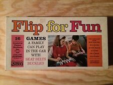 PARKER BROTHERS RARE 1966 FLIP FOR FUN TRAVEL GAME SET! w/3 OF 16 GAMES + MORE!