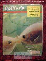 COLLIER's August 19 1955 TROPICAL FISH NAPOLEON Jonathan Latimer James Poling
