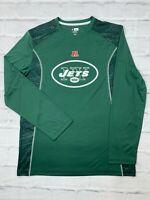 NFL New York Jets Long Sleeve Shirt Size Large Football Team Apparel TX3 Cool
