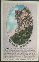 Old Man of The Mountain Franconia New Hampshire Vintage Postcard D87
