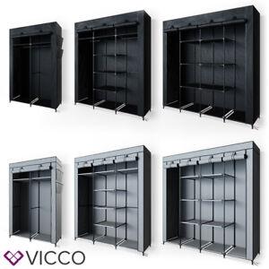 VICCO Kleiderschrank XXXL DIY Faltschrank Stoffschrank Steckregal System Schrank