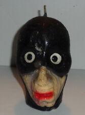 "Vintage Halloween candle head, masked man creepy guy gimp fetish #2,Topstone 5"""