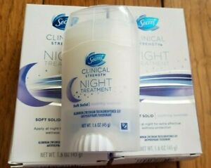 2 x Secret Clinical Strength Night Treatment 1.6 oz - Soothing Lavender Exp10/20