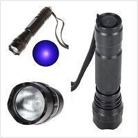 Hot UV 501B LED 365NM Ultra Violet Blacklight Flashlight Torch 18650 Light Lamp