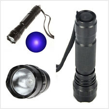 Hot UV 501b LED 365nm Ultra Violet Light Flashlights Torch 18650 Lights Lamps