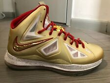 NEW NIKE LEBRON X 10 RING CEREMONY Size 11 PROMO SAMPLE GOLD PE CHAMPIONSHIP