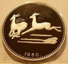 Equatorial Guinea 1980 Silver 2000 Ekuele Proof World Impalas