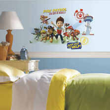 PAW PATROL wall stickers MURAL 6 decals Ryder Chase Marshall Rubble Rocky Zuma