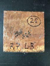 "YELLOW BOX #26 BOWL BLANK LATHE 7x7x3"" ONE PIECE FREE SHIPPING! WEIGHT 7.7 LBS"