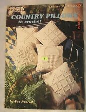 Country Pillows to Crochet - Leisure Arts Book 1143 - 5 Patterns